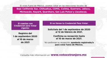 IECM e INE, organizan taller para promover el voto chilango desde el extranjero